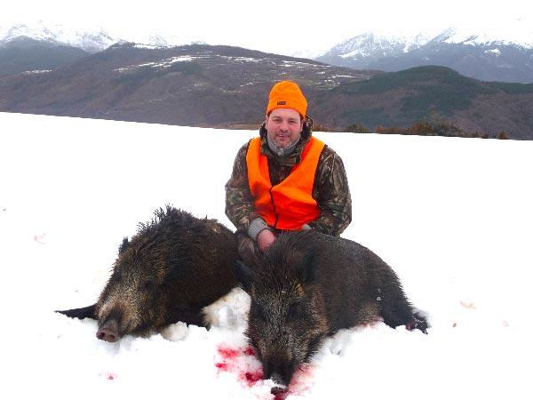 Patrick Pasello chasse au sanglier en Espagne
